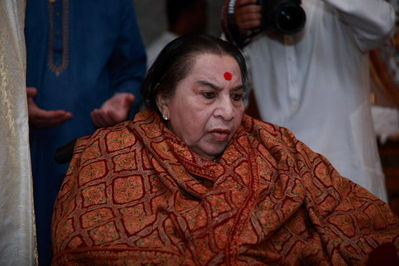 Shri Mataji at Guru Puja on 20 July 2008 at Cabella, Italy